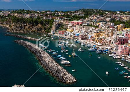 Italy Prochida's Marina di Corricella coast 73226447