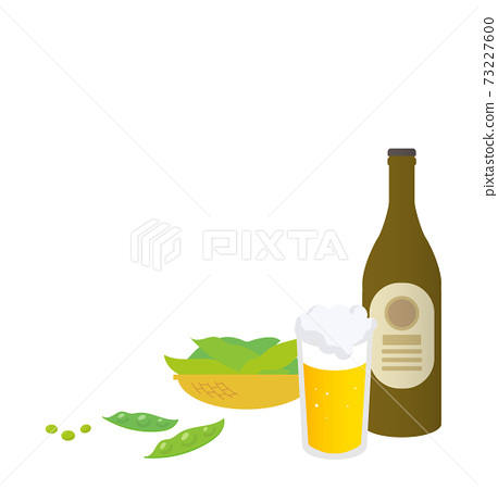 Landscape with beer and edamame 73227600