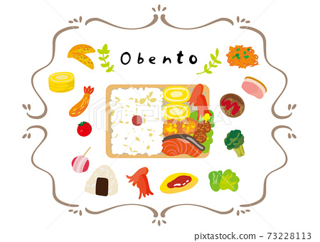 Cute illustrations for making bento 73228113
