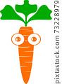 Beautiful carrot in illustrator 73228979