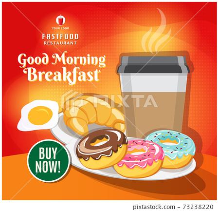 Fast food banner restaurant social media post vector 73238220
