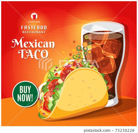Fast food banner restaurant social media post vector 73238226