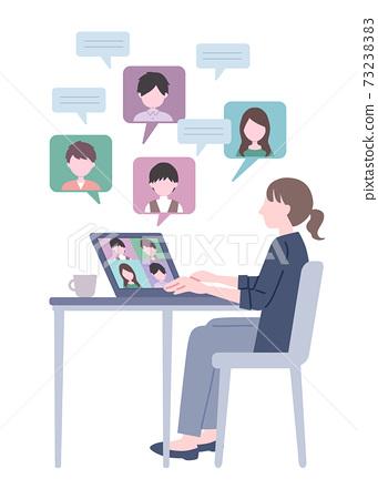 Illustration of remote work 73238383