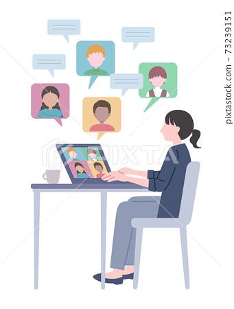 Illustration of global remote work 73239151