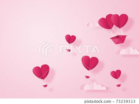 발렌타인 - 종이 접기 -3DCG- 하트 풍선 - 귀여운 세계관 [지공예] 73239313