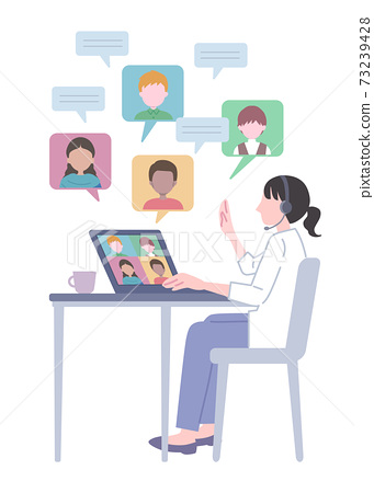 Illustration of global remote work 73239428