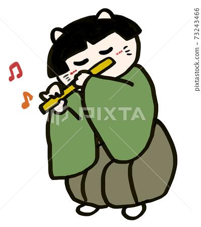 Hina Matsuri Hina娃娃,逗貓的五個音樂家,一個哨子,一個人 73243466