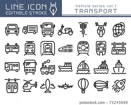 Line Icon交通工具系列Vol.1運輸 73243699