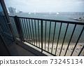 從高層看釜山廣安里海灘和廣安大橋 73245134
