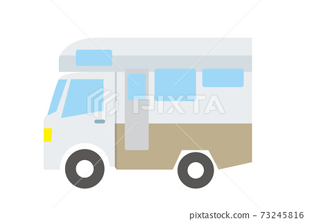 簡單的汽車icon_illustration_露營車乘用車室外 73245816