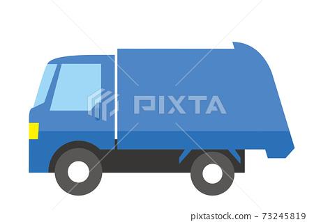 簡單的車icon_illustration_工作車垃圾收集車 73245819