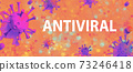 Antiviral theme with viral objects 73246418
