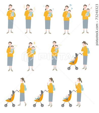 嬰兒和婦女套 73248323