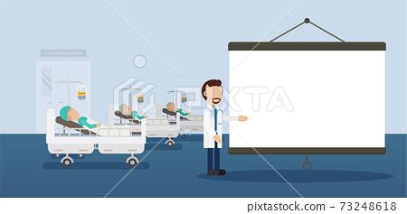 Blank projector in cancer ward 73248618