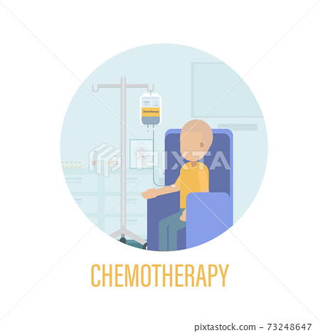 Chemotherapy room with cancer patient 73248647