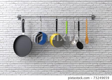 kitchen rack with utensils 73249659
