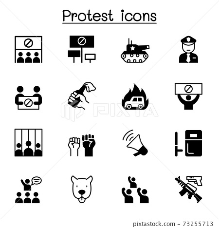 Protest icons set vector illustration graphic design 73255713