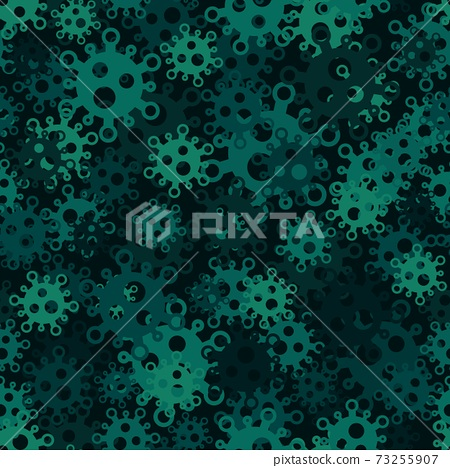 Military virus seamless pattern background. Pandemic concept camouflage 73255907
