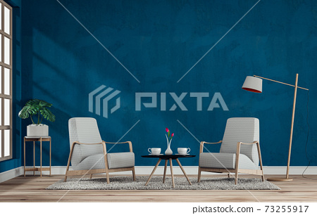 interior living room with armchair. 3D render 73255917