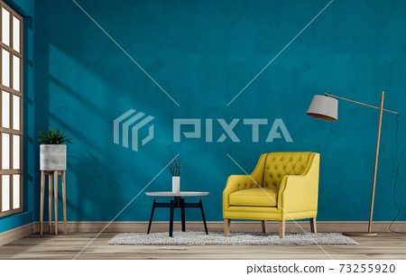 interior living room with armchair. 3D render 73255920