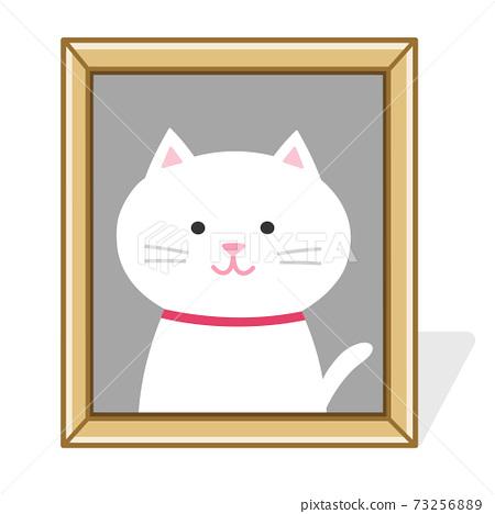 寵物遺體的照片展台(貓)插圖 73256889