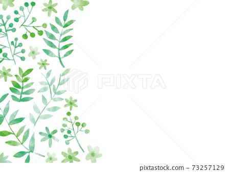 綠色leaf_frame_watercolor 01 73257129