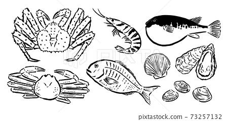 鮮魚刷,例如高級食材 73257132