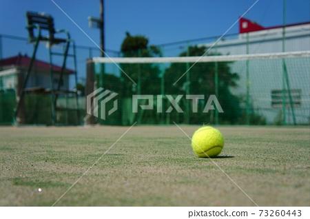 Tennis court ball 73260443