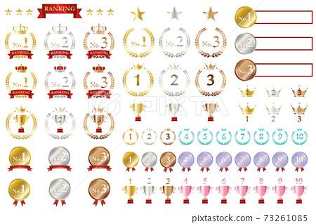 순위와 순위 아이콘 세트 Ranking Icon set 73261085