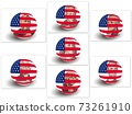 Portrait of U.S. presidents with USA Flag Globe 73261910