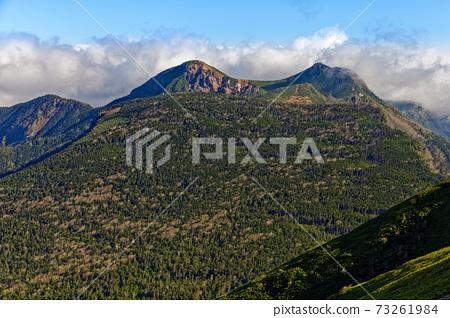從八嶽山脈和富士山看到的Minoru山和Tengu山。 73261984
