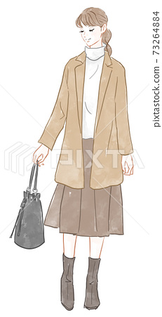 Woman with a bag 73264884