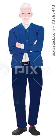 Men in dark blue sweater 73265443