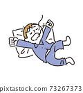 一個從睡眠中醒來大喊的男孩 73267373