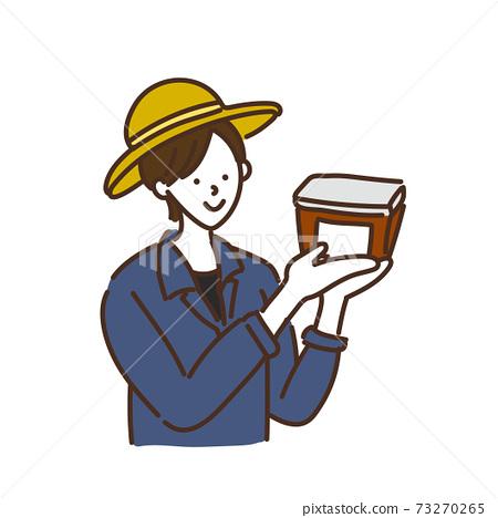 農業女孩農業農民稻農女性插圖 73270265