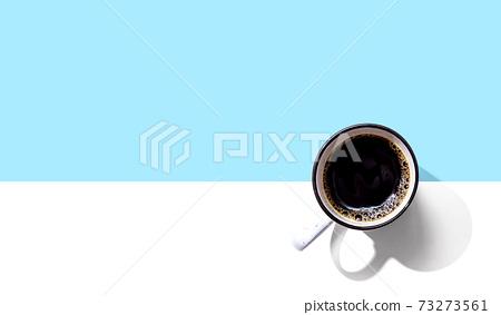 Coffee mug pattern overhead view 73273561