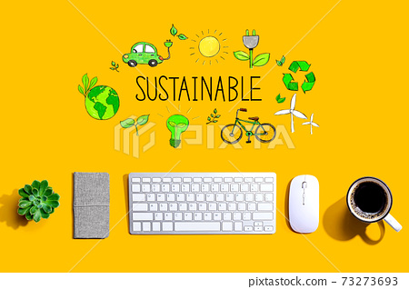 Sustainable with a computer keyboard 73273693