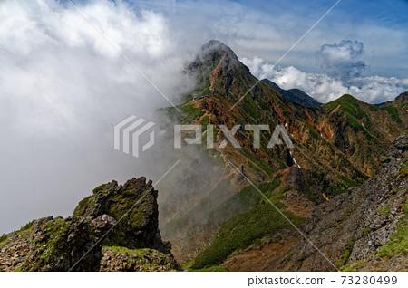 타케 연봉 · 横岳 능선에서 구름 솟는 아카 다케 전망 73280499