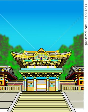 일본 풍경 햇볕 도쇼구 73281244