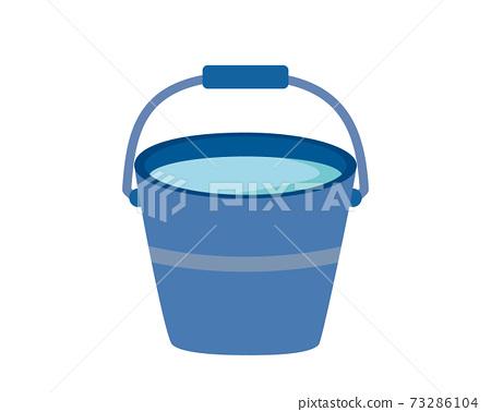 矢量圖的桶清潔工具 73286104