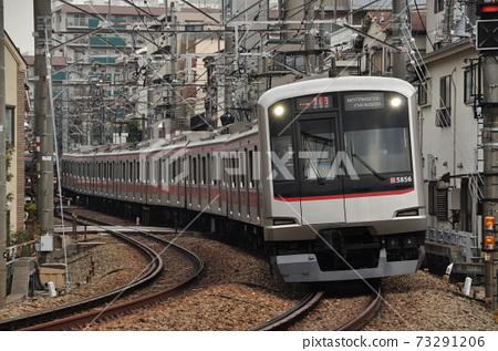 Express train (5050 series train) running between Myorenji and Hakuraku stations on the Tokyu Toyoko line 73291206