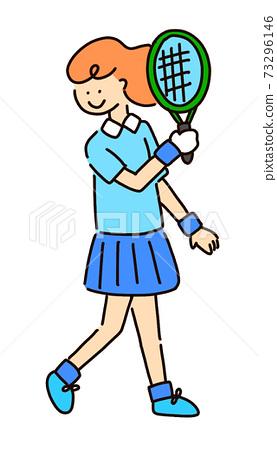 打網球的女人 73296146
