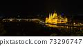 헝가리 라이트 업 된 부다페스트 국회 의사당 73296747