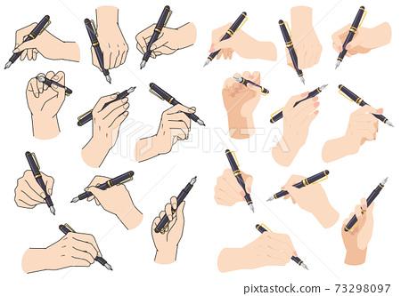 拿筆的手 73298097
