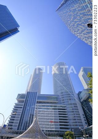 從前面觀看JR中央塔樓(愛知縣名古屋市中村區名古屋站前) 73302223