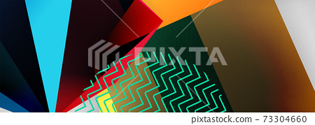 Low poly 3d geometric shapes, minimal abstract background. Vector illustrations for covers, banners, flyers and posters and other 73304660