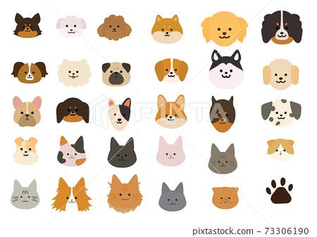 各種狗/貓物種插圖集 73306190