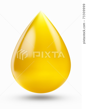 3D rendering oil drop isolated on white background 73309999