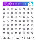 Geometric Symbols Line Icons Set 73314128