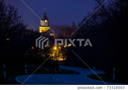 church, building, night 73316003